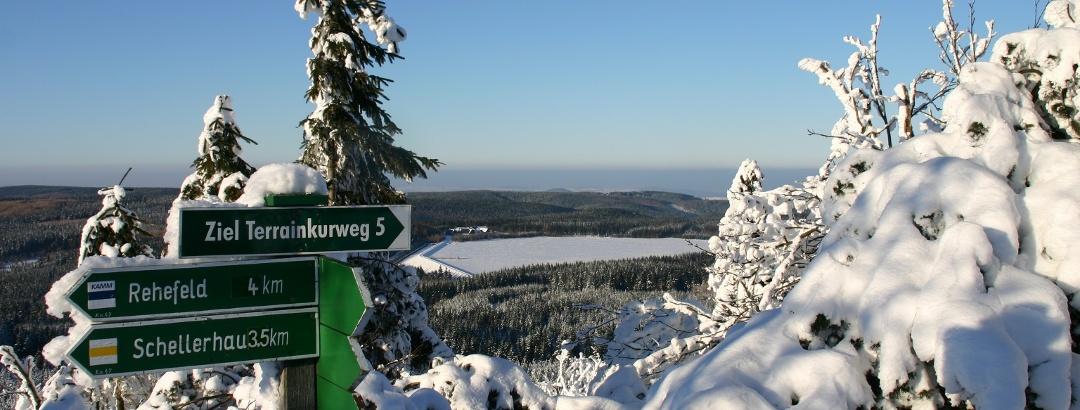 Urlaubsregion Altenberg im Winter - Winterwandern