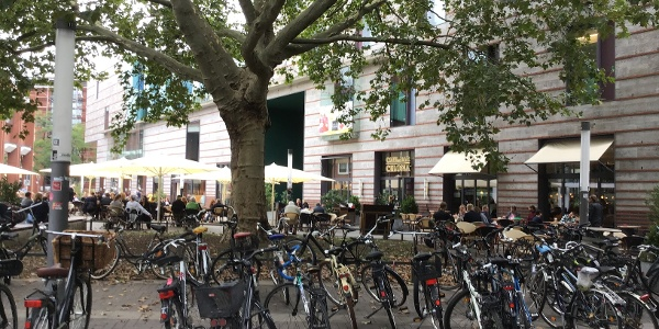 Schleifenroute - Münster mit etlichen Fahrrädern