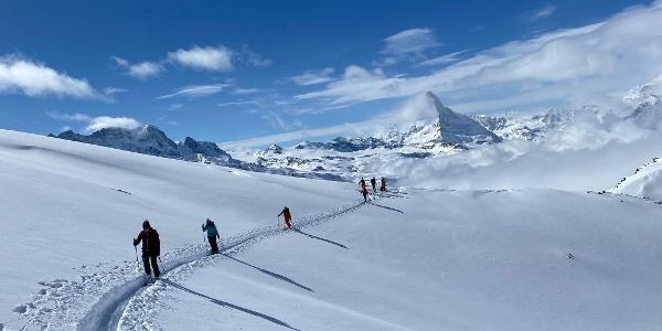 Hoch über Zermatt und dem Wolkenmeer