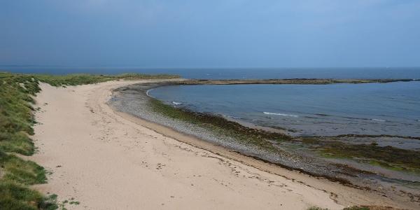Northumberland beaches on Lindisfarne