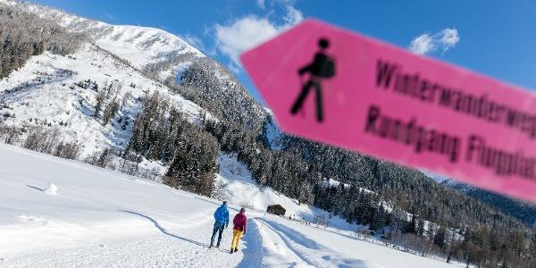 Bestens beschriebene Winterwanderwege