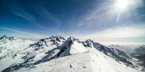 Sur le sommet du Breithorn