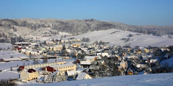 Blick auf Saupsdorf