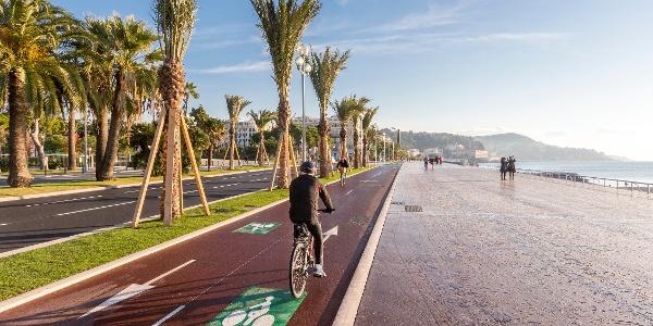 Piste cyclable promenade des anglais - Nice