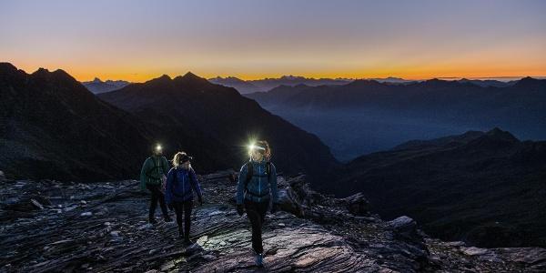 Bergtour oberhalb von Dorf Tirol