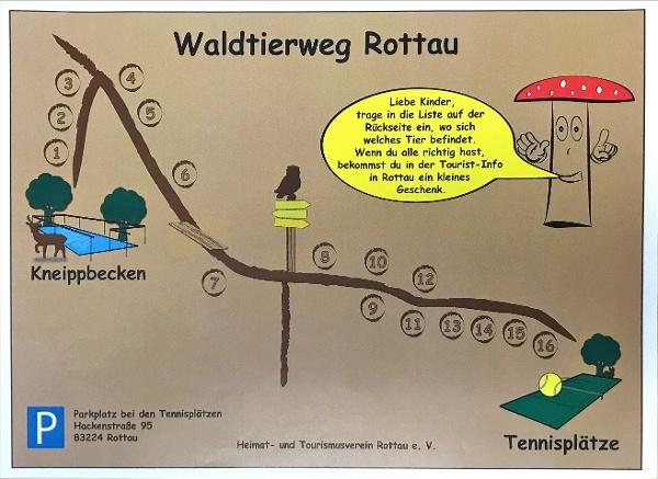Anleitung zum Waldtierweg in Rottau