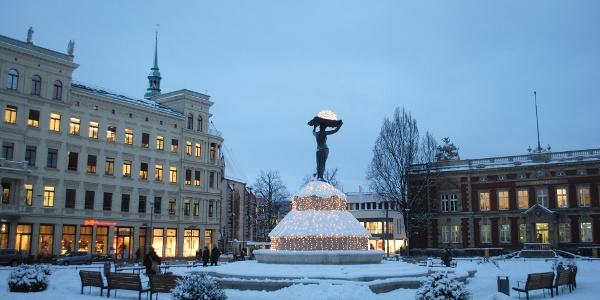Postplatz (Winter), Görlitz