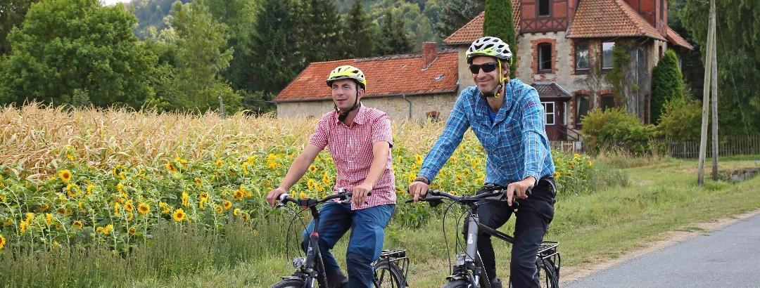 Radfahrer im östlichen Weserbergland