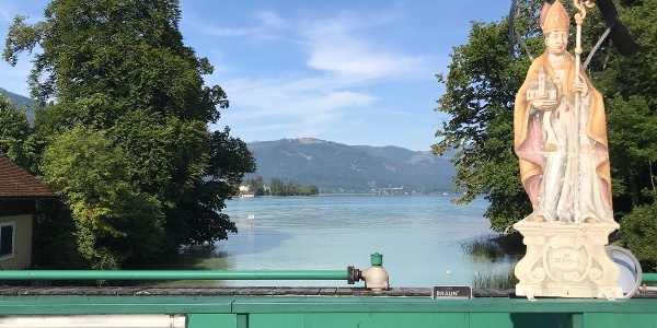 Bridge with Saint Wolfgang