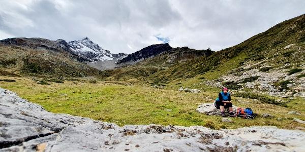 Pause an der Alp da Buond Sur