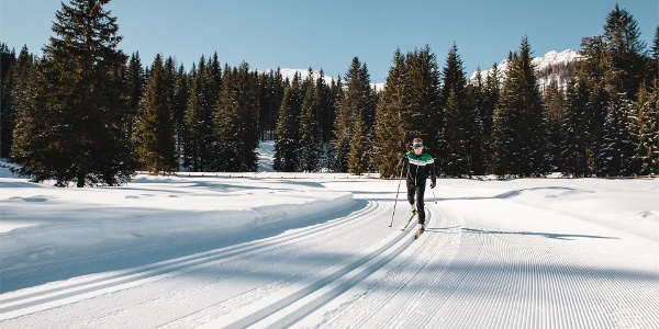 Sprint cross-country skiing slope