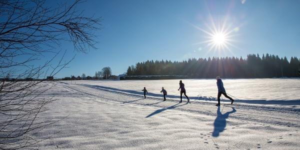Langlauf im Vogtland mit der ganzen Familie