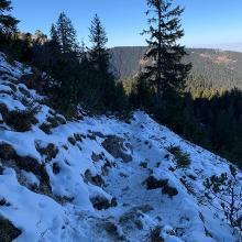 Nordwand Abstieg nach dem Mandl