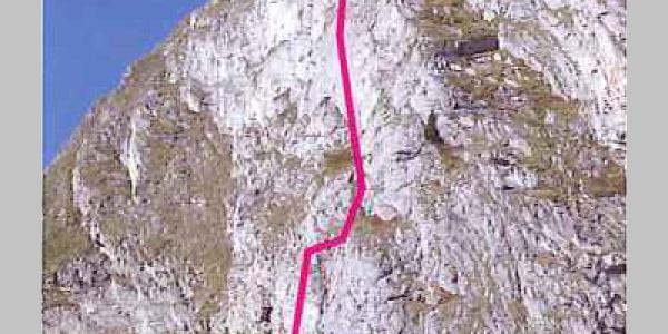 Topo des Klettersteigs Gantrisch.