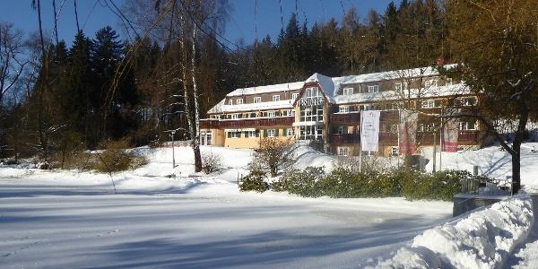 Winteransicht Parkhotel Bad Brambach