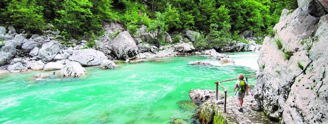 Pot ob reki Soči, Trnovo ob Soči