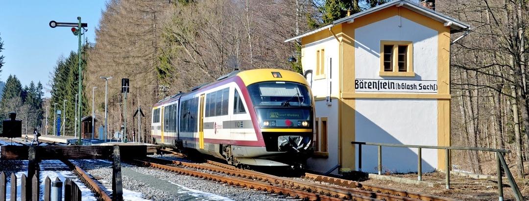 Mitteldeutsche Regiobahn (MRB), Triebwagen im Müglitztal, Foto VVO Schmidt