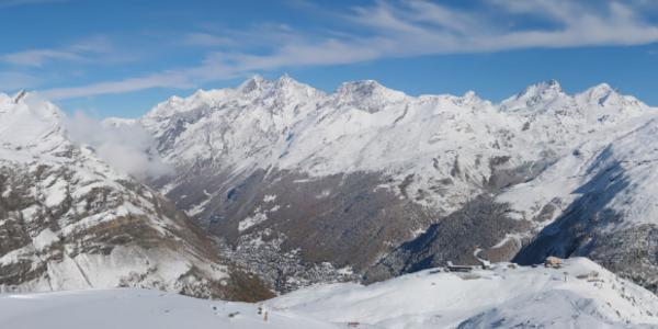 View of Zermatt and the stunning panorama.