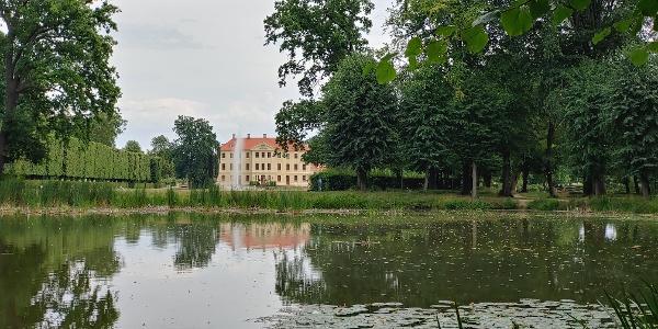 Blick auf Schloß Zabeltitz