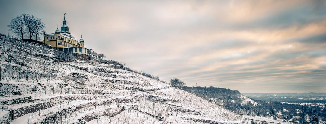 Spitzhaus Radebeul im Winter