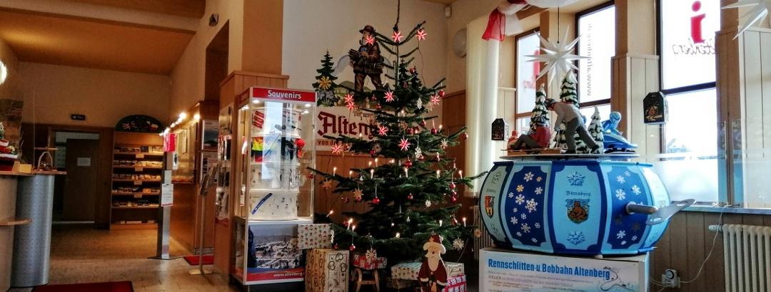 Tourist-Information Altenberg in der Weihnachtszeit