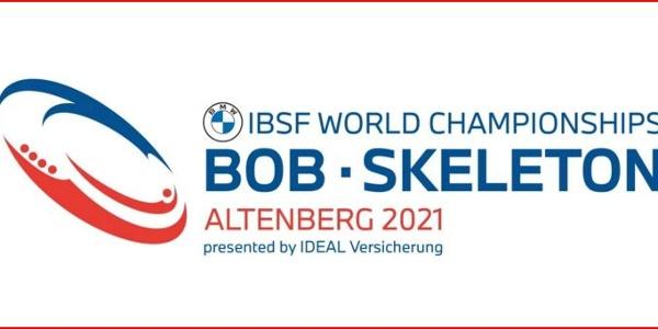 Logo - BMW IBSF Bob und Skeleton Weltmeisterschaften 2021