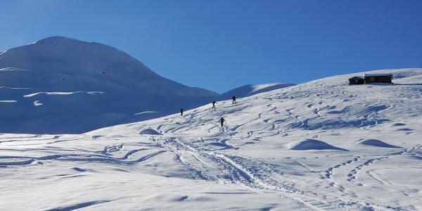 Alphütte Cuolm Cavorgia - unserem Ziel entgegen