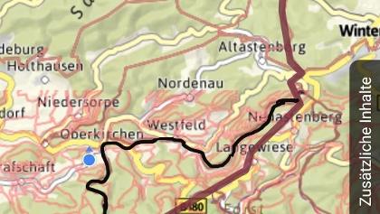 Korrektur der Strecke im Hochsauerland