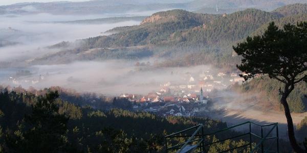 Blick auf Schindhard vom Löffelsberg