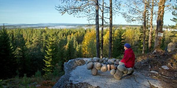 Erfaringsstol Svev på Seterhaugen Nature experience chair soaring feeling on Seterhaugen