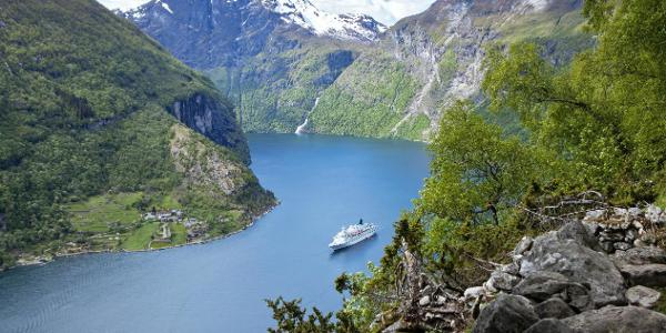 View over Geirangerfjord.
