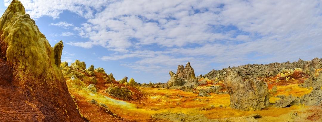 Karge Landschaft in der Danakil-Wüste
