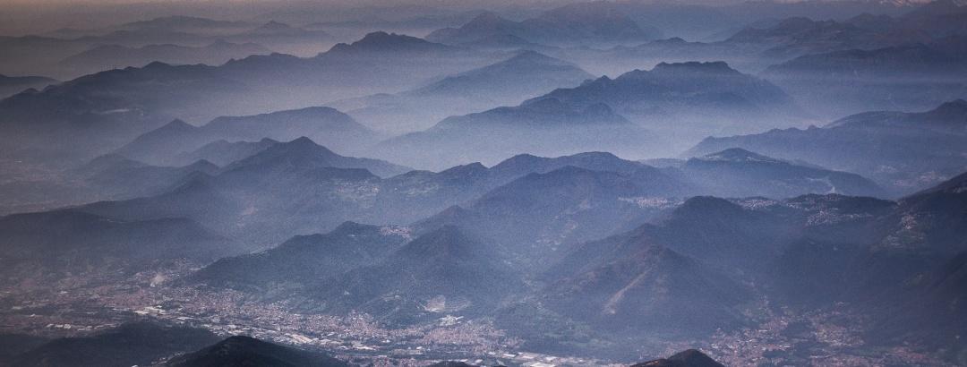 Vista su Bergamo e Prealpi