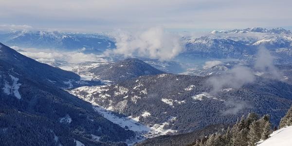 Il panorama sull'altopiano di Pinè