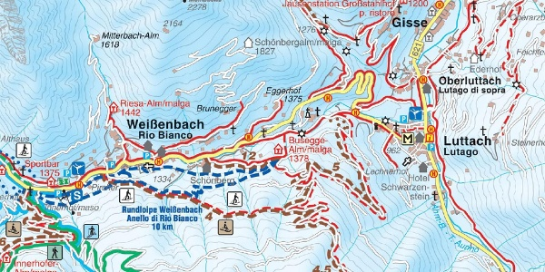 Winter hiking trail to the Busegge Alm hut