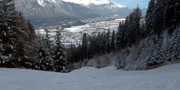 Schöner Ausblick auf die Nordkette und Innsbruck