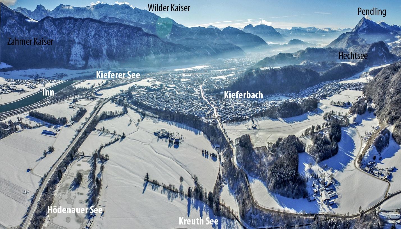 Kiefersfelden, Kaisergebirge, Inntal, Pendling, Kieferer See, KreuthSee, Hödenauer See, Inn