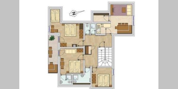 Kleiner Grundriss der Wohnung