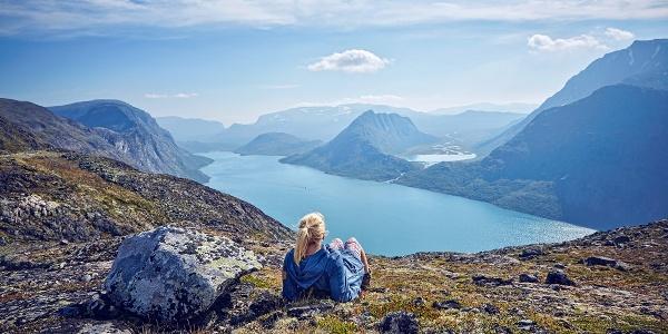 View over Lake Gjende from near Besseggen