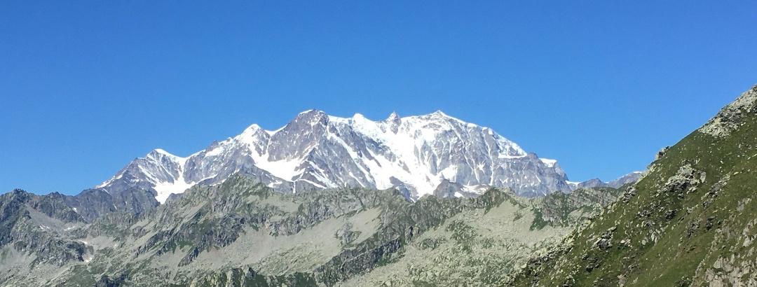 Monte Rosa in voller Schönheit.