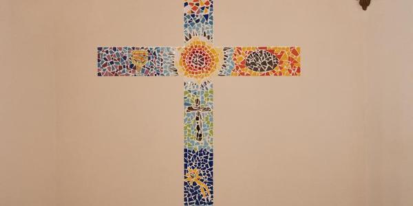 Mosaikkreuz in der Stadtkirche Liestal