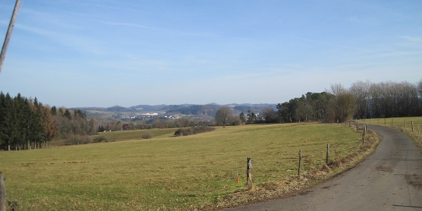 Ausblick oberhalb von Hinterhausen