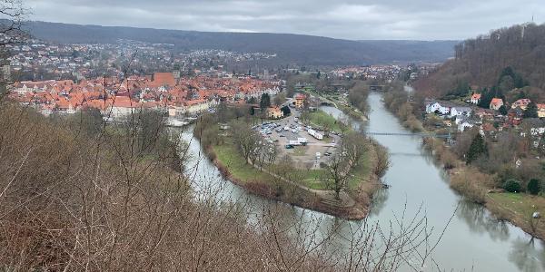 Blick von der Weserliedanlage