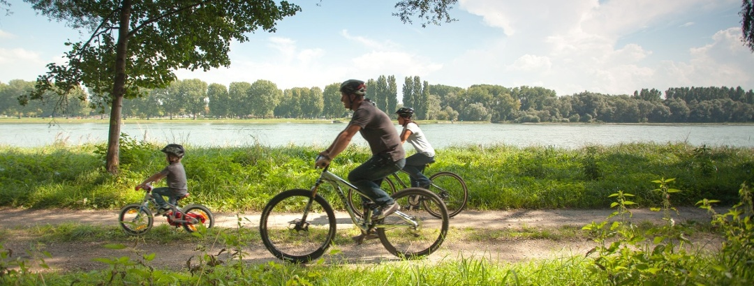 Familienradtour am Rhein