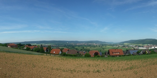 Blick auf den Talkessel - Kempenhof