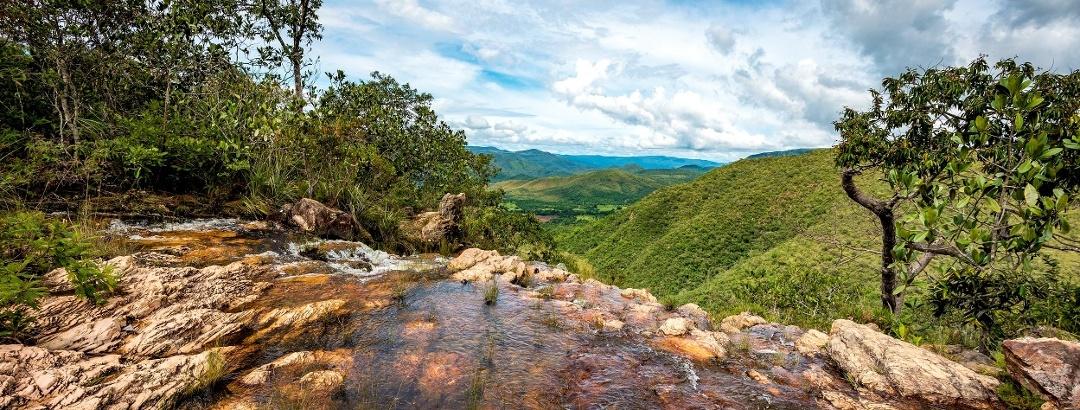 Cachoeira da Água Fria na Chapada dos Veadeiros, Goiás - Brasil