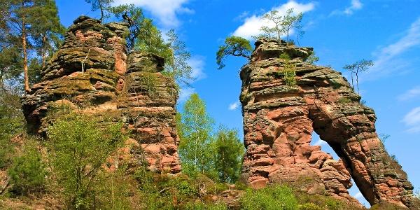 Schillerfelsen am Dahner Felsenpfad