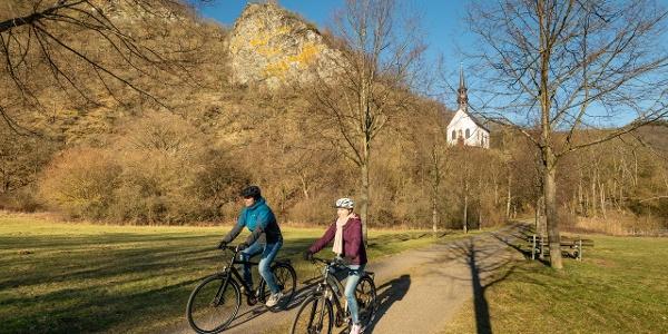 Auf dem Ahr-Radweg in Pützfeld