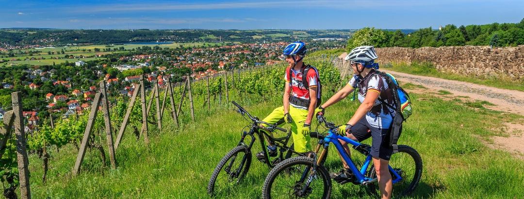Mountainbiker im Elbland