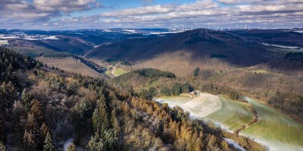 Aussicht in die Eifel vom Hochsimmer